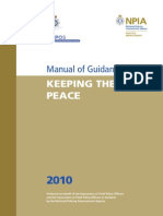 Manual of Guidance Keeping the Peace