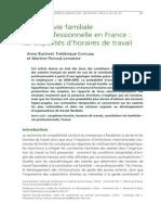Concilier Vie Familiale Et Vie Professionnelle en France. Les Disparites d'Horaires de Travail - Bustreel Cornuau y Pernod-Lemattre (2012)