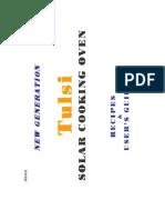 Tulsi Solar Oven User Manual