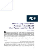 The Changing Nature of the Payment System