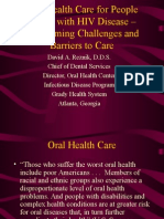 494 Oral Health Care for People Living With HIV - Overcoming Challenges and Barriers to Care