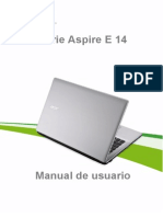 Manual Aspire E14