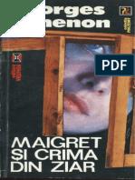Georges Simenon - Maigret Si Crima Din Ziar [v. 2.0]
