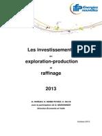 Les investissements en exploration-production et raffinage en 2013.pdf