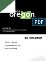Business Oregon - 2015-17 budget presentation