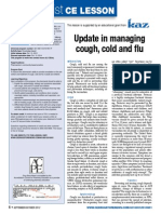 Update in Managing Cough Cold and Flu -Knowledge-based Activity