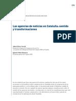 Las agencias de noticias en Cataluña sentido