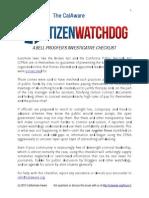 CalAware's Citizen Watchdog Guide