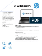 AMS HP ProBook 430 G2 Notebook PC Datasheet