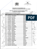 Listes des admis