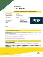 MSDS Spirax A80W90