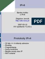 Bardzo krótko o IPv6