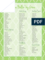 Flavor List - 3/16/2015