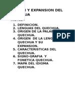 Origen y Expansion Del Quechua