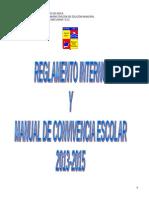 Reglamento Convivencia Escolar (Gaston)2013-2015