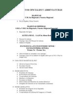 Tratamientos Oficiales y Abreviaturas