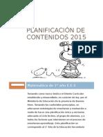 Planificación de Contenidos 2015