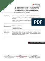 EC.01.PE.012 Construccion de Cunetas Con Recubrimiento de Piedra
