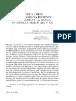Articulo de Carlos Marichal Sobre Banca