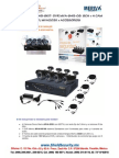 SHIELD SECURITY - MERIVA MVA845-8KIT- DVR MVA-845-08  8CH + 4 CAM BULLET 650TVL MVA202K + ACCESORIOS