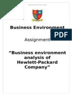 Business Environment of Hewlett Packard (HP) Company