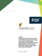 LightingEurope Guide - Regulation 1194 2012