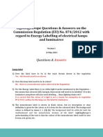 LightingEurope Questions Answers - Regulation 874 2012 ENERGY LABELLING