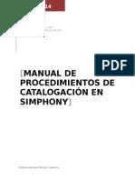 Procedimientos de Catalogación en Simphony free