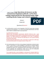 LightingEurope Questions Answers - Regulation 1194 2012 ECODESIGN