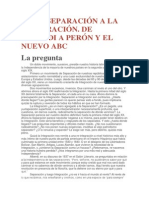 De La Separación a La Integración. de Alberdi a Perón y El Nuevo ABC