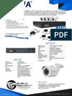 SHIELD SECURITY - MERIVA MHD-830K - DVR MHD-830-4 4CH + 4 CAM BULLT 1.3MPX MHD202K + ACCESORIOS