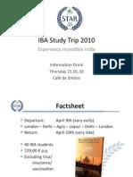 IBA Studytrip INFOdrink 21stJan10