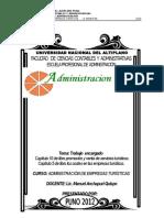 El Marketing y La Promocion de Ventas en Las Entidades de Ventas en Las Entidades de Distribución Turística
