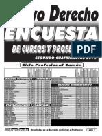 Resultados de La Encuesta de Cursos y Profesores 2do Cuat 2014