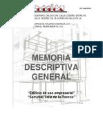 Memoria Descriptiva Arquitectonica General