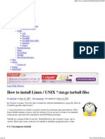 How to Install Linux _ UNIX _.Tar.gz Tarball Files