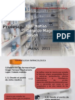 FARMACOLOGIA INTRODUCCION