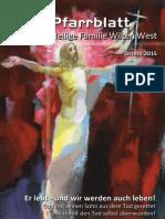 Pfarrblatt Ostern 125 - Pfarre Heilige Familie Wilten West