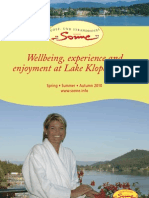 Wellbeing, Experience and Enjoyment at Lake Klopeiner