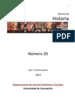 Revista Historia 20 Vol 1 Departamento de Historia UdeC