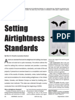 Airtightness Standard for HVAC Design