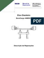 MR 6 EuroCargo 450E32T Eixo Dianteiro