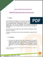 Bases Fondos Participativos 2015