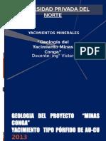 Geologia de Minas Conga