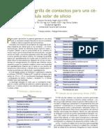 Diseño de la grilla de contactos para una célula solar de silicio usando COMSOL Multiphysics®