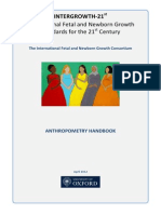 Draft Anthropometry Handbook