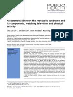 Associations Between the MetAssociations between the metabolic syndrome abolic Syndrome And