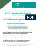 American Dissident Prince Judge Matthew