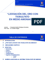 1. Lixiviacion de Oro en Medio Tiosulfato Amoniaco Fernando
