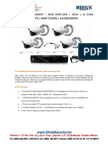 SHIELD SECURITY - MERIVA NVR104KIT - NVR NVR104  4CH + 4 CAM BULLET  1.3MPX  MOB130PE + ACCESORIOS